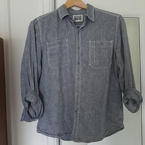 CONVERSE Linen/Cotton Casual Button Down Shirt